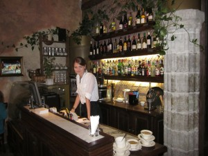 Mariliisa at the Von Krahli Aed interior front bar