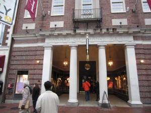 Harvard coop book store entrance