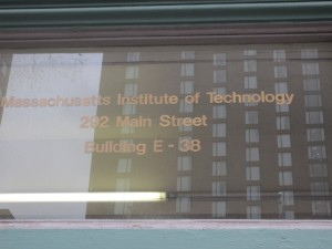 MIT Book store entrance sign