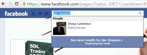 Step 7b Search for your new 'Language-specific name' in the Facebook search box
