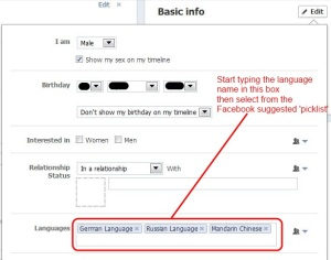 Step 3 Choose your language(s) in timeline basic settings